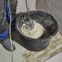 Mezcladora de mortero y pintura para la obra