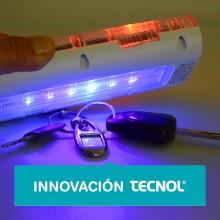 Lámpara solar con luz UV-C