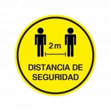 Vinilo circular distancia de seguridad