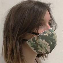 Mascarilla textil WAR estampado camuflaje