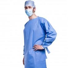 Bata sanitaria anti-salpicaduras con manga larga