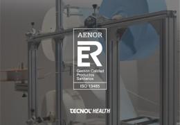 Somos la primera empresa fabricante de mascarillas española a la que AENOR certifica con la ISO 13485