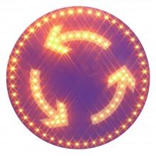 SEÑAL LED solar rotonda
