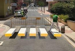 ¿Cómo se ve el efecto del Paso Peatones 3D?